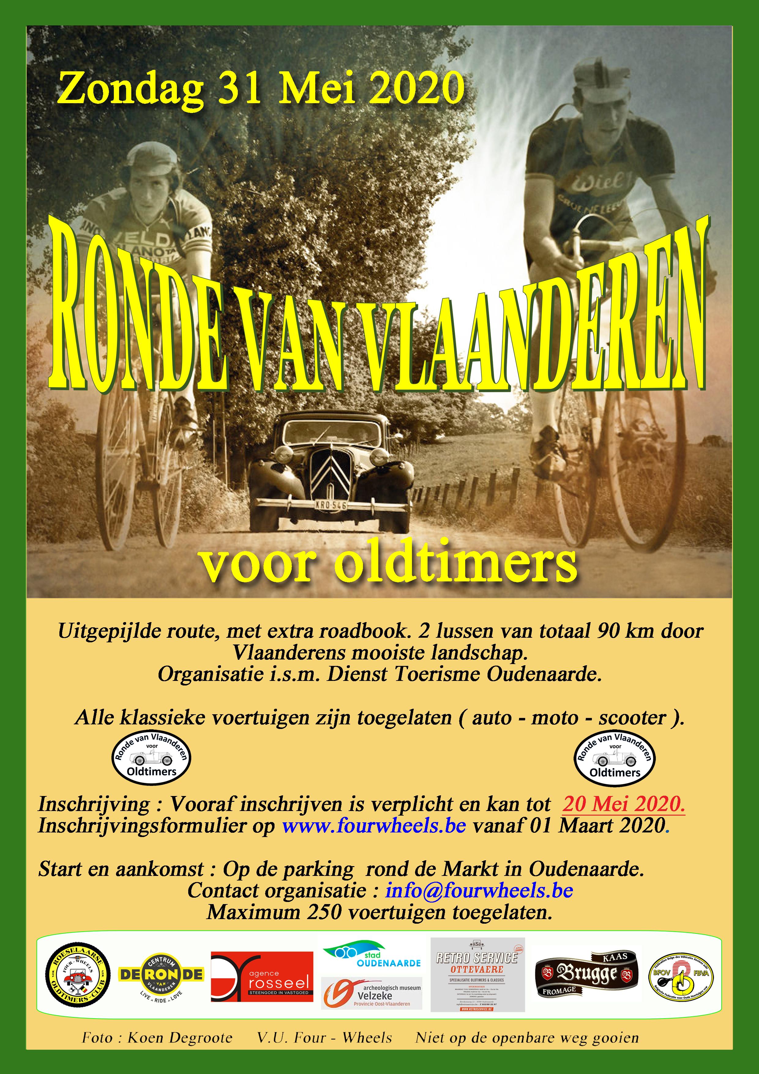 Ronde Van Vlaanderen voor Oldtimers 2020